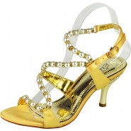Fay strappy diamante mid heeled sandal