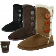 Fee 3 button mid-calf winter snow boot