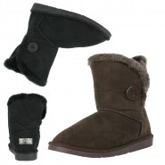 Hilda one button faux fur ankle snug boot