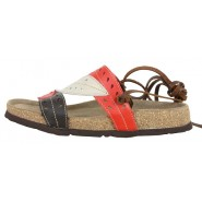 Makayla flat leather slip on sandals