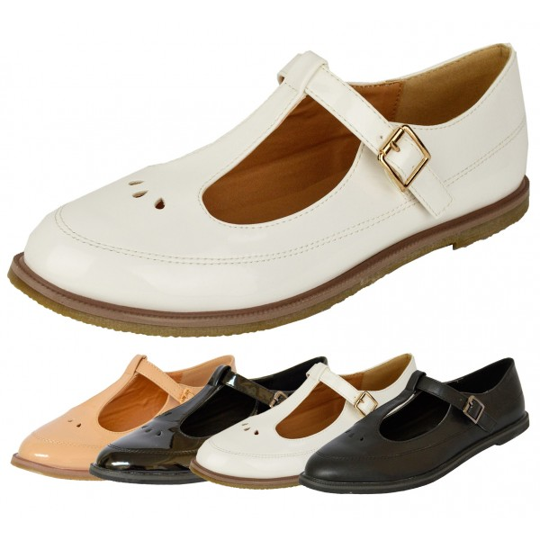 Kit cut out t bar office school shoe - shuboo c37026947