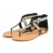Aaren Flat toe post gladiator sandal