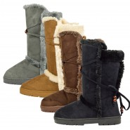 Nita flat mid-calf fur winter snow boot