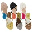 Trissie flat slip on flip flop sandal