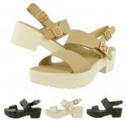 Ally Mid-heeled sling-back gladiator sandal