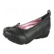 Brina cross over flat low heel wedge shoe