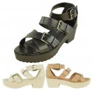 Angie Mid-heeled gladiator snake print sandal