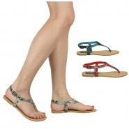 Kloe toe-post sling-back sandals