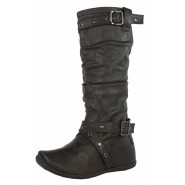 Liz mid-calf strappy flat casual boots