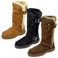 Buddy womens fur lined winter snow boot