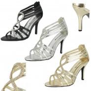 Pamela high heeled diamante sandals