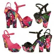 Anita high heel sling back platform shoes