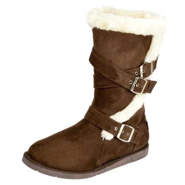 Boco Ladies flat heel fur lined winter boots - shuboo 7457dae5f