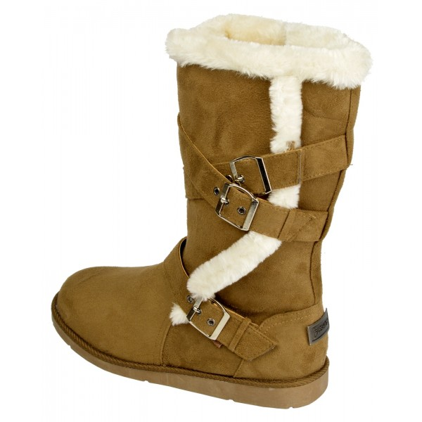 ac63ee033f0b4 Boco Ladies flat heel fur lined winter boots - shuboo