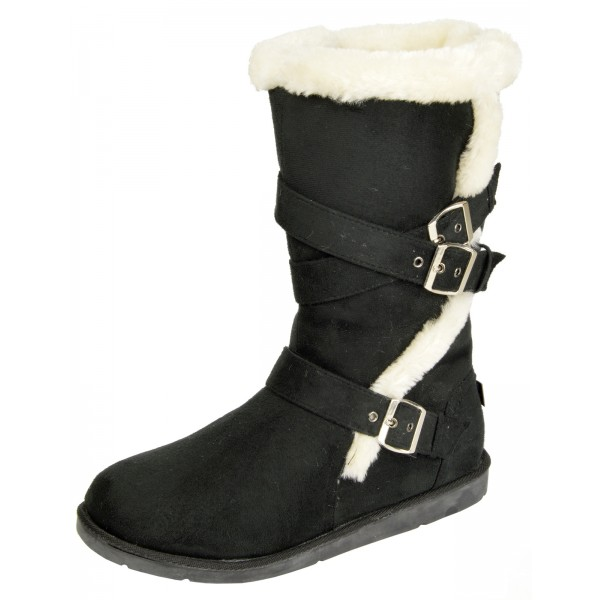 Faux Fur Flat Heel Slip On Snow Boots - Coffee 38 clearance shopping online outlet real free shipping fake 5lzTVvh