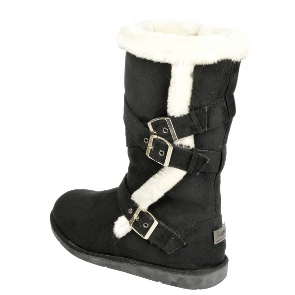 Boco Ladies flat heel fur lined winter boots - shuboo