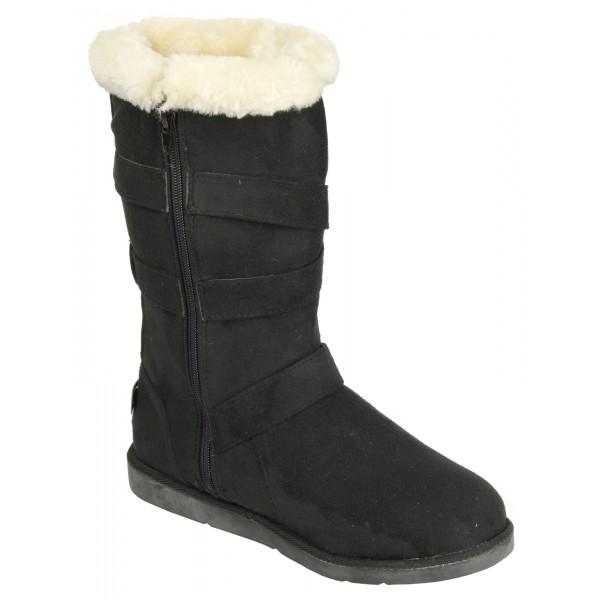 Boco Ladies flat heel fur lined winter boots - shuboo 2b4e2e6acb
