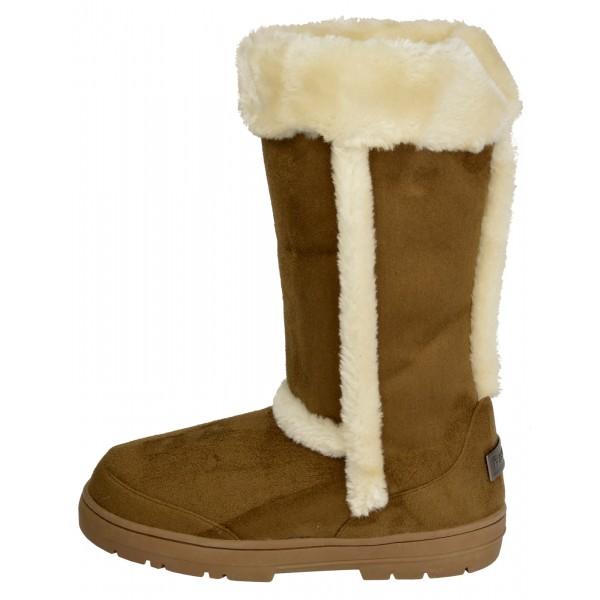 9098f92bbe84a Kari fur lined flat winter boots - shuboo