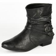 Brita 3 Strap flat ankle boot