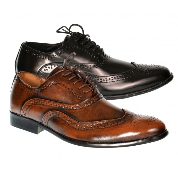 Savoy Mens Formal Lace Up Brogue Shoe Shuboo
