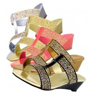 Ana diamante jewelled wedge sandal slip on low wedge