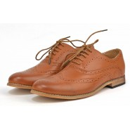 Irwell flat casual lace up brogue shoe