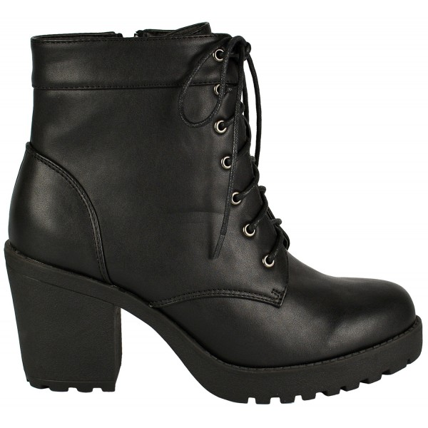 Mina mid heeled lace up ankle boot - shuboo