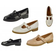 Clair slip on cut out brogue flat shoes