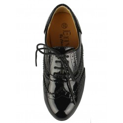 Girls Kids Junior School Party Shoe Flat Black Patent Size UK11 UK12 UK13 UK1 2