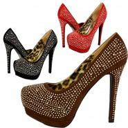 Tanise platform diamante heeled shoe