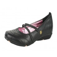 Sal 2 strap elasticated flat casual shoe