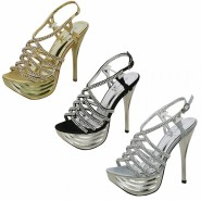 Taiga High-heeled platform sandals