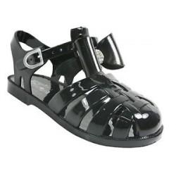 35101d3d6 Home   girls flat diamante bow jelly sandals kids summer retro beach shoes  flip flops. View full size