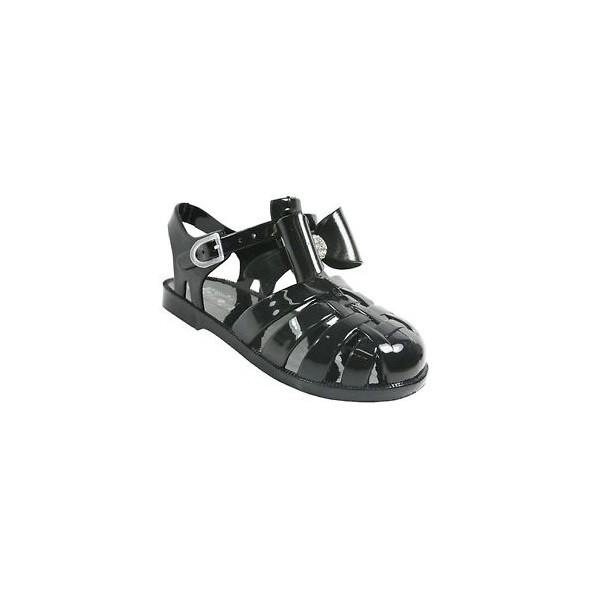 ad069542e ... girls flat diamante bow jelly sandals kids summer retro beach shoes flip  flops ...