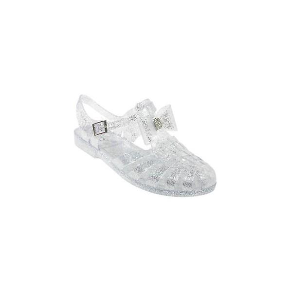 a3a1613c5 ... girls flat diamante bow jelly sandals kids summer retro beach shoes  flip flops ...