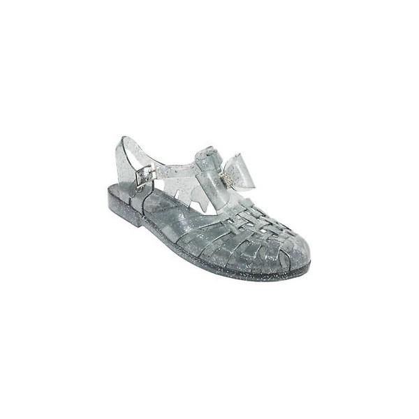a0a205945 ... girls flat diamante bow jelly sandals kids summer retro beach shoes  flip flops