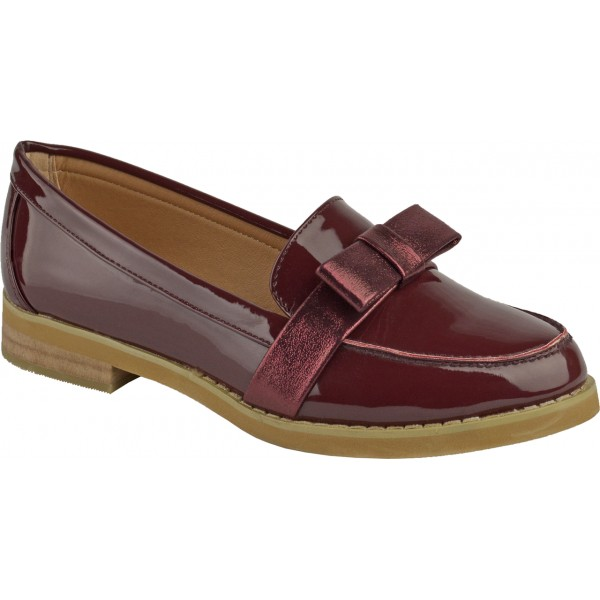 Womens Loafers Las Flat Casual Work Office School Bow Pumps Shoes 3 8