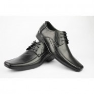 Mens Black Real Leather shoes Formal Office Wedding Lace up shoes size 6-11