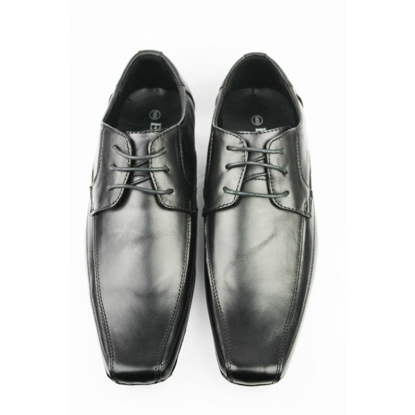 Mens Black Real Leather Shoes Formal Office Wedding Lace Up Size 6 11
