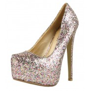 Jes high heeled diamante platform heels
