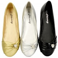 Stacey flat slip-on diamante shoes