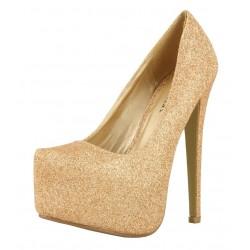 Send to a friend. Jes high heeled diamante platform heels 7d1286a25d