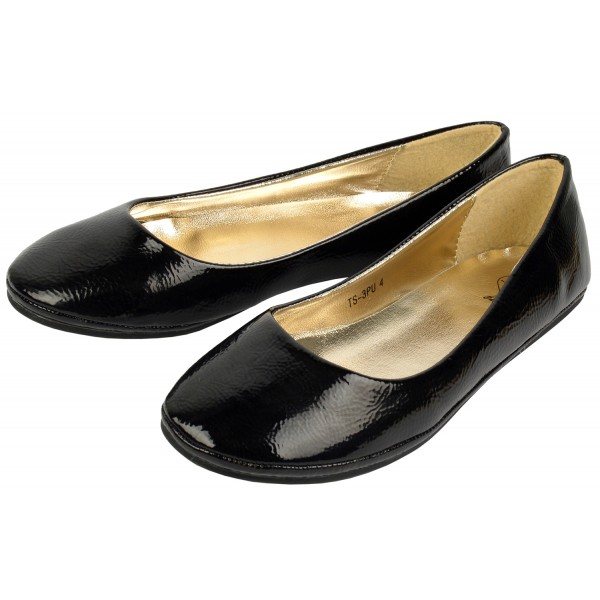 plain black dolly shoes