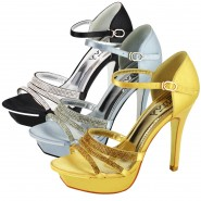 Tina high heel satin party sandals
