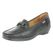 Aline flat casual leather lined boat shoe