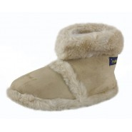 Amber coolers fur lined slippers Faux lined from top
