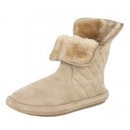 Ruby faux suede quilted luxury booties