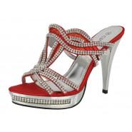 Peggy high heeled diamante platform shoe Slim heel