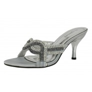 Raquel slip on low heeled glitter shoe Stiletto heel