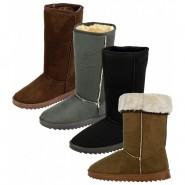 Delia Mid-calf plain fur lined snug boot